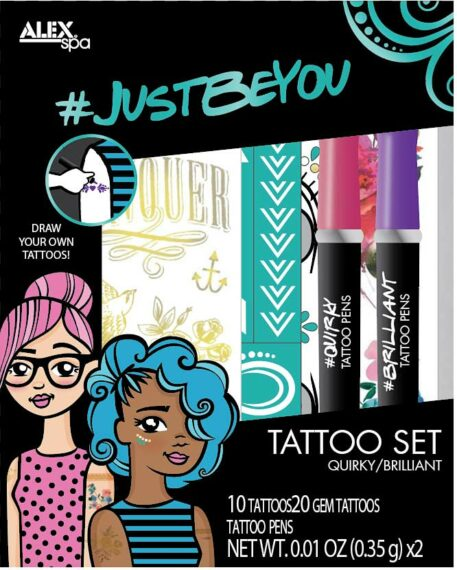 ALEX Spa JUSTBEYOU Tattoo Set QUIRKYBRILLIANT