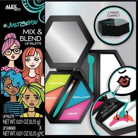 ALEX Spa JUSTBEYOU Lip Mix and Blend Lip Palette