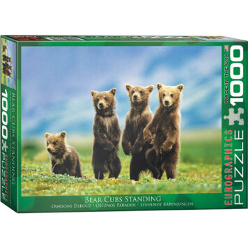 Bear Cubs Standing 1000-Piece Puzzle