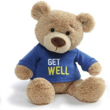 Get Well Bear Blue, 12.5""
