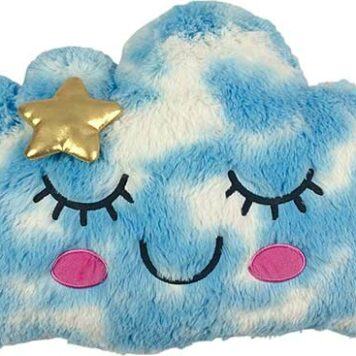 Furry Cloud Embroidered Fleece Pillow