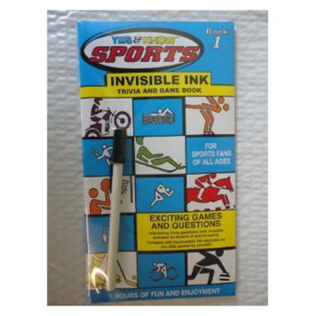 Yes and Know Sports Invisible Ink Trivia Book 1