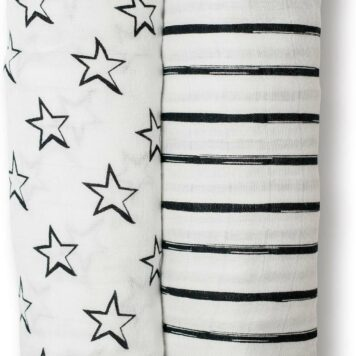 Cotton Muslin Swaddling Blankets - Stars & Stripes