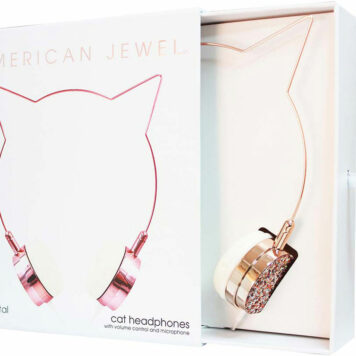 American Jewel Cat Headphones - Rose Gold
