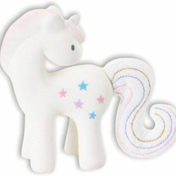 Tikiri Fairytales Rubber Rattle - Unicorn