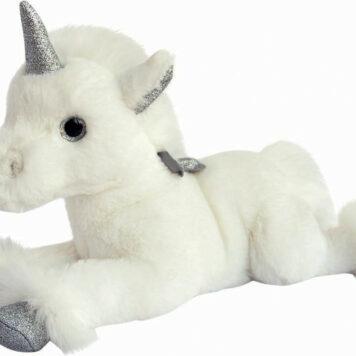 Histoire D'ors Silver Unicorn Plush