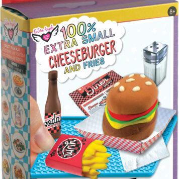Fashion Angels 100% Extra Small Mini Clay Kit - Cheeseburger & Fries