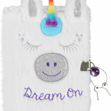 Dream On Unicorn Plush Journal