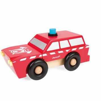 Janod Fireman SUV Magnet Kit