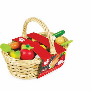 Janod Fruits And Vegetable Basket 24pcs