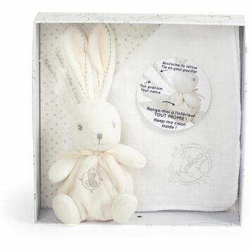 Kaloo Perle Kaloodoo Rabbit and Blanket-Cream
