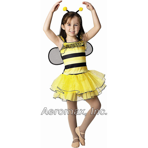 Bee w/Detachable wings & headband, size 2/3