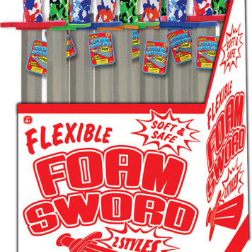 FOAM SWORD floor display 24