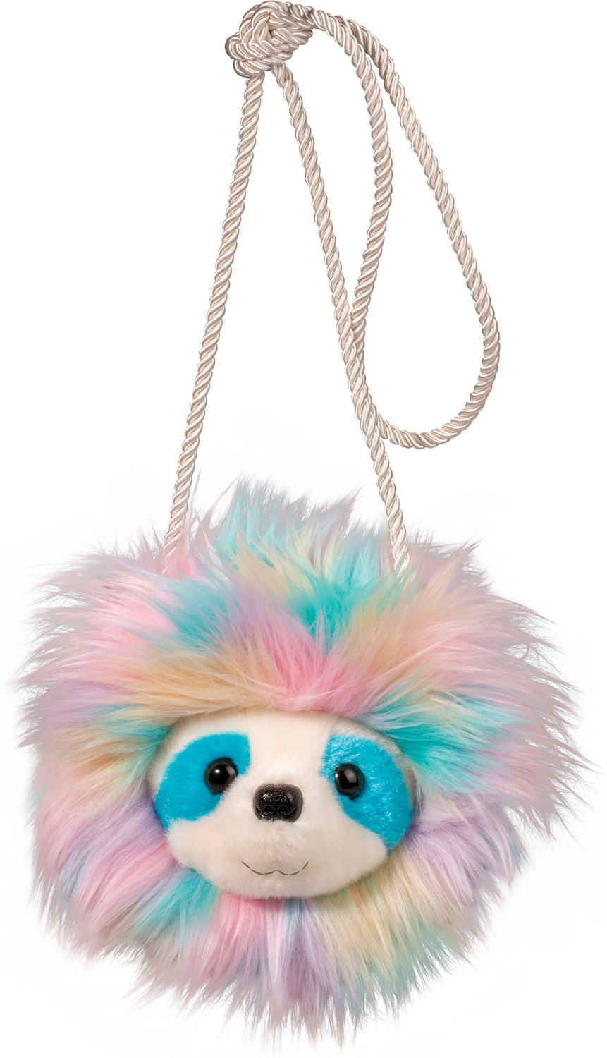 Rainbow Sloth Fur Fuzzle Crossbody