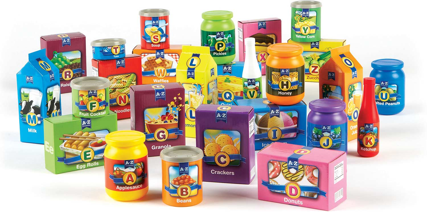 A to Z Alphabet Groceries