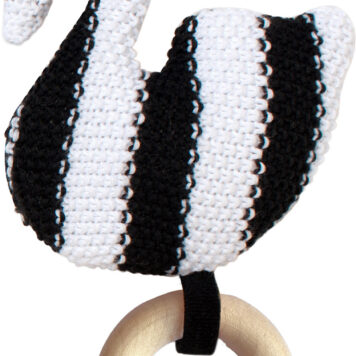 Swan Knit Baby Rattle