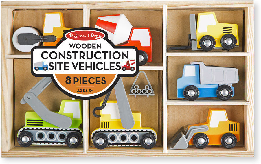 Wooden Construction Site Vehicles