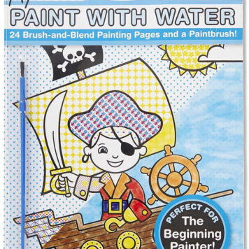 My First Paint With Water Kids' Art Pad With Paintbrush - Pirates, Space, Construction, and More