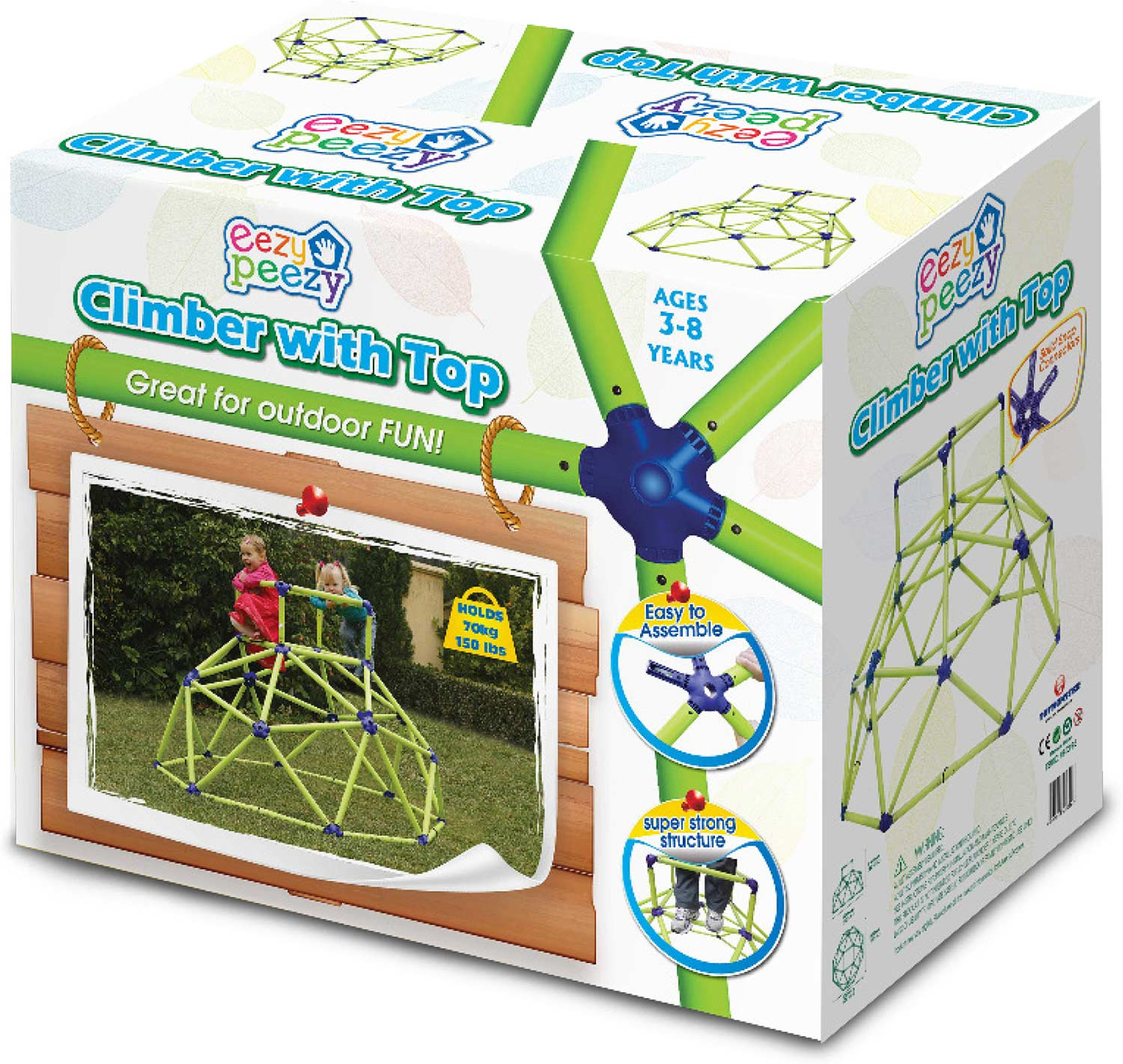 Eezy Peezy Monkey Bars Tower - Green/Blue