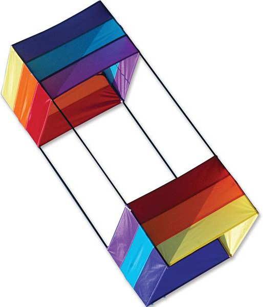 40 in. Box Kite - Rainbow