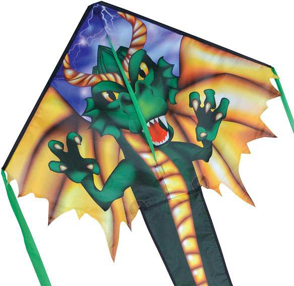Regular Easy Flyer Kite - Emerald Dragon