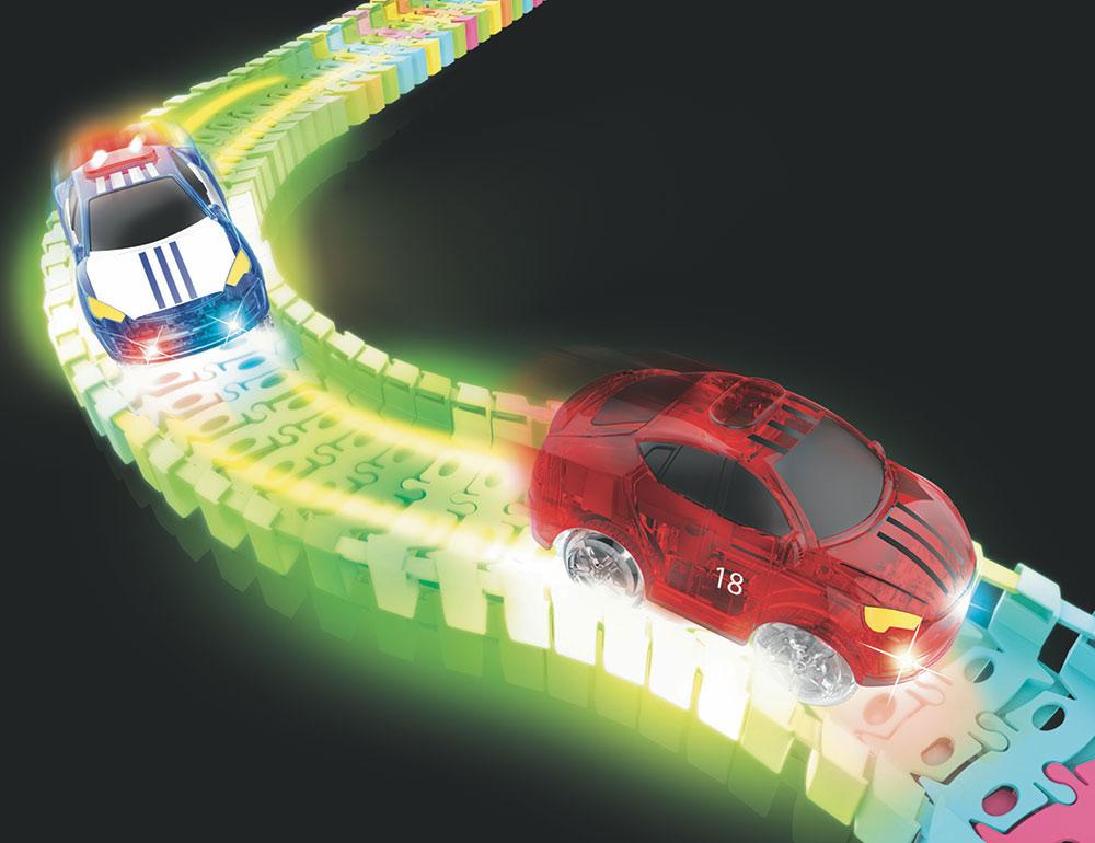 Neon Glow Twister Tracks Micro Race Series