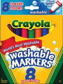 Crayola Washable Brd Classic Marker 8/ PK 6/ 24