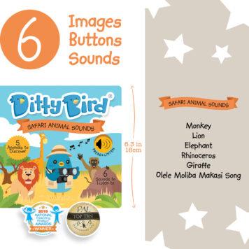 Ditty Bird Baby Sound Book: Safari Animal Sounds
