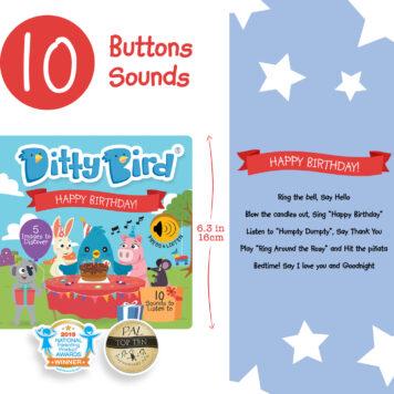 Ditty Bird Baby Sound Book: Happy Birthday