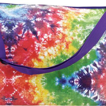 Rainbow Tie Dye Sequin Weekender