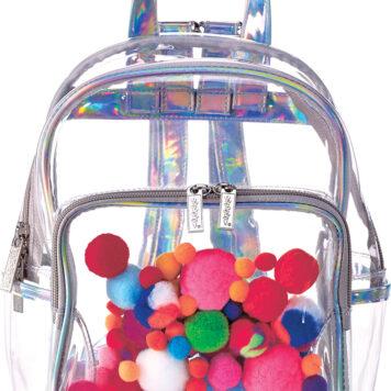 Pom Pom Clear Backpack Copy