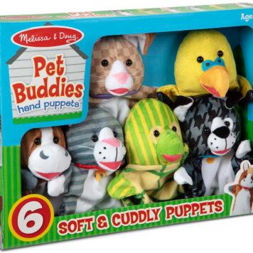 Pet Buddies Hand Puppets (6 Pc)