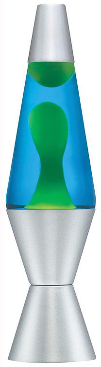 "Lava Lamp - 14.5"" Yel/Blue"